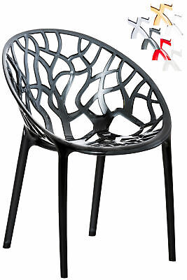 Gartenstuhl CRYSTAL stapelbar Modern Farbwahl NEU Küchenstuhl