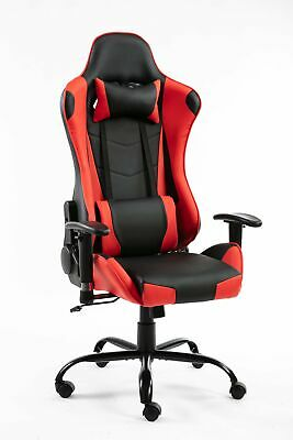 Ergonomic High-back Office Gaming Chair Pu Leather 360 Swivel 90-180 Recliner
