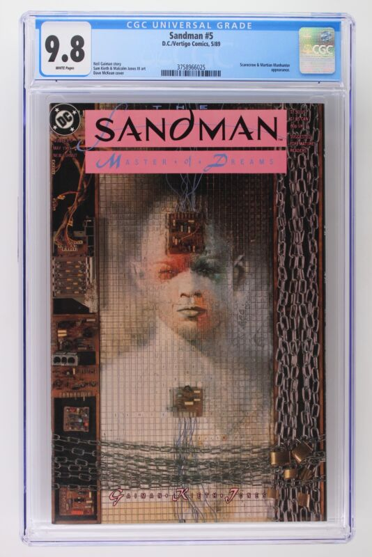 Sandman #5 - DC/Vertigo 1989 CGC 9.8 Scarecrow and Martian Manhunter Appearance.