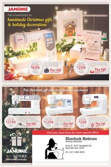 Janome Christmas Catalogue Sale on now