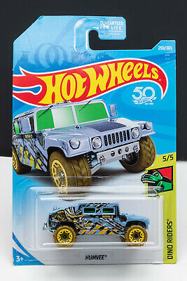 Hot Wheels 2018 Humvee Hummer M Case HW Dino Riders Off Road Blue Fast Ship B52