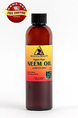 NEEM OIL ORGANIC UNREFINED CONCENTRATE VIRGIN COLD PRESSED RAW PURE 4 OZ