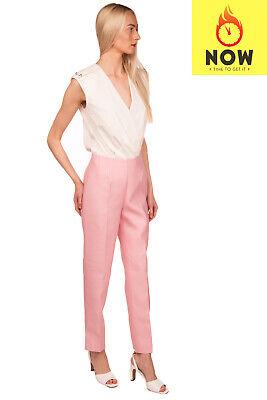 RRP €1280 GABRIELA HEARST Silk & Wool Trousers Size 38 / XXS-XS Made in Italy