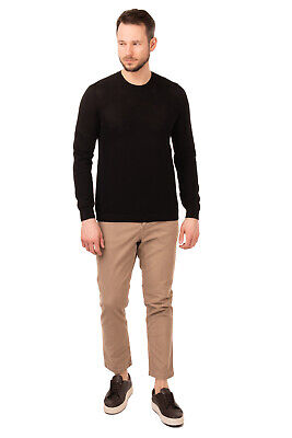 ROBERTO COLLINA Jumper Size 52 / XL Black Thin Knit Textured Made in Italy