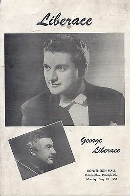 Liberace Program  with George Liberace 1954