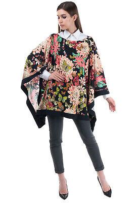 RRP €495 ROBERTO CAVALLI CLASS Kaftan Top Size 54 3XL Floral & Butterflies Print