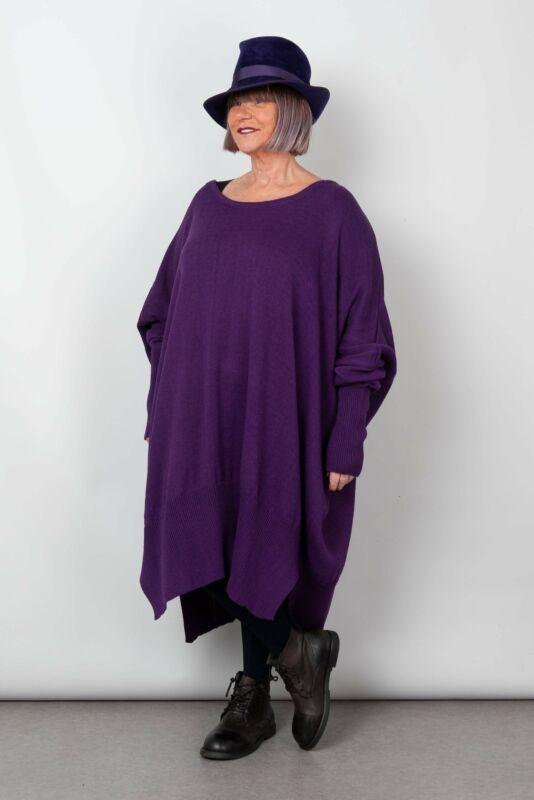 Femmes Violet En Coton Pur Top en plus Taille 20 Bnwt