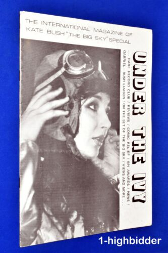 1986 Kate Bush Under The Ivy International UK Fanzine #3 Magazine Rare OOP