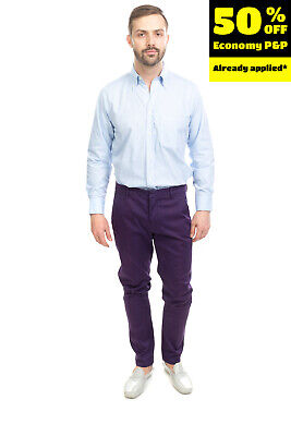 RRP €175 DONDUP Chino Trousers Size 35 Stretch Garment Dye Zip Fly Made in Italy