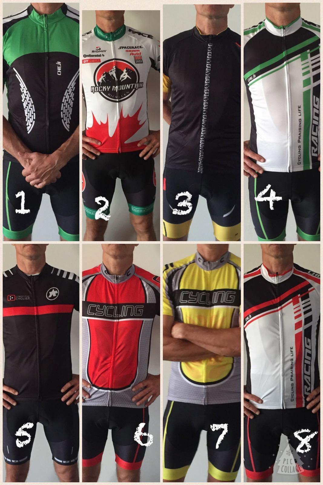 Completo ciclismo pantaloni salopette Bike jersey Bib short sport bici MTB BDC