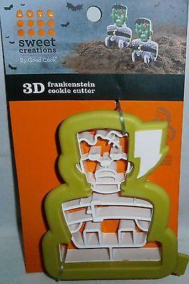 Halloween Cookie Cutters   3-D FRANKENSTEIN - 3d Halloween Cookies