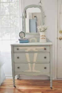 Charming Antique Dresser with mirror. Price reduced!!