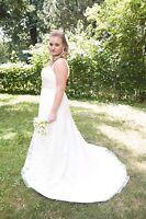 Oleg Cassini Ivory & Lace Wedding Dress