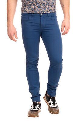 RRP €140 ENTRE AMIS Gabardine Trousers Size 30 Stretch Garment Dye Button Logo