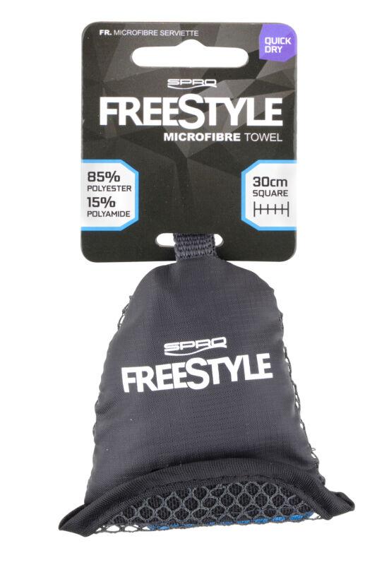 Spro Freestyle Microfibre Towel Handtuch Clip Beutel polieren Mikrofaser Tuch