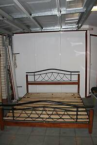 King Size Wood and Metal Bed, very good condition Bridgeman Downs Brisbane North East Preview