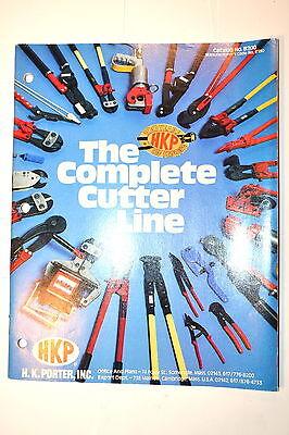 1979 H.k. Porter Hkp Complete Cutter Line Catalog No. B200 Rr974 Bolt Cable