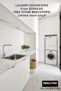 LAUNDRY RENO WITH FREE STONE BENCHTOP from $3500