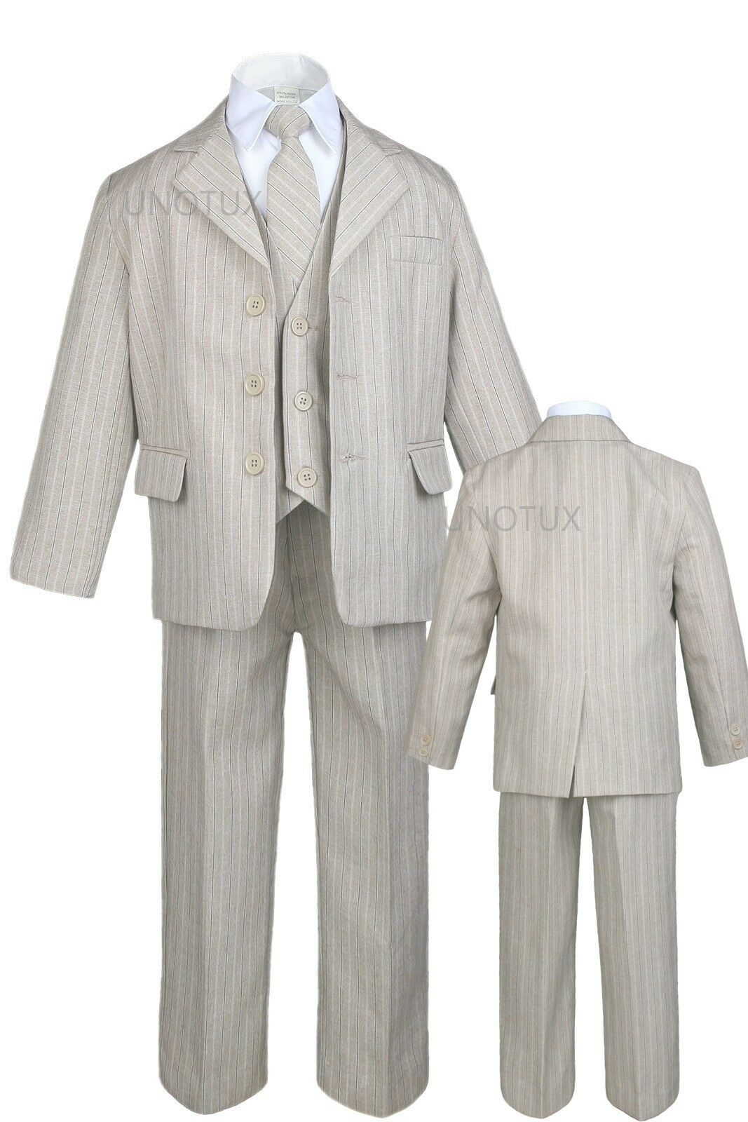 Infant, Toddler Boy Formal Party Tuxedo Wedding Suit Taup...