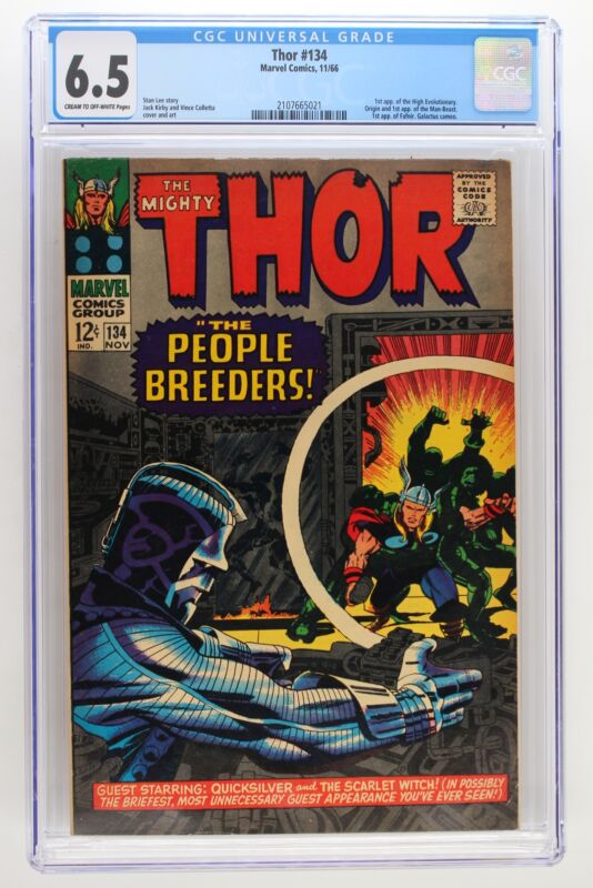 Thor #134 - Marvel 1966 CGC 6.5 1st Appearance of the High Evolutionary. Origin