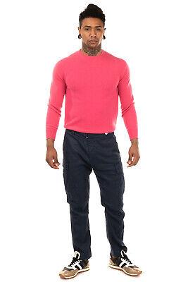 RRP €155 ENTRE AMIS Cargo Trousers Size 34 Stretch Linen Blend Garment Dye