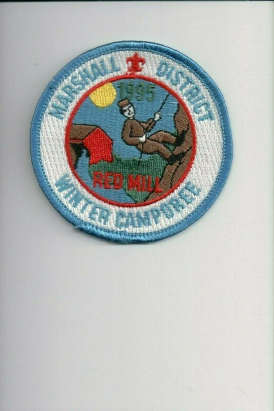 1995 Marshall District Red Mill Winter Camporee patch