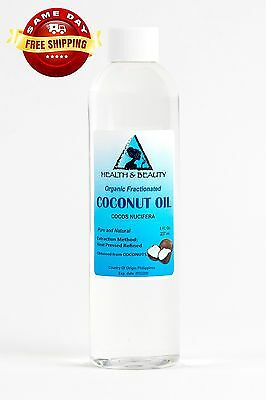 COCONUT OIL FRACTIONATED ORGANIC CARRIER ULTRA REFINED PREMIUM 100% PURE 8 OZ