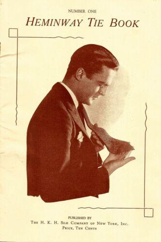 1920 MENS FASHION TIES CATALOG Heminway Tie Book HOW TO CROCHET Merchandising