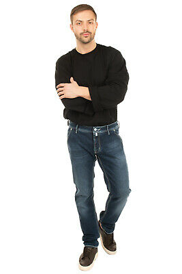 RRP €255 JACOB COHEN Denim Trousers Size 36 Stretch Faded HANDMADE in Italy