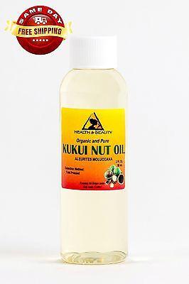 - KUKUI NUT OIL ORGANIC by H&B Oils Center COLD PRESSED PREMIUM 100% PURE 2 OZ