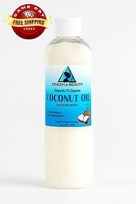 COCONUT OIL 76 DEGREE ORGANIC CARRIER REFINED COLD PRESSED 100% PURE 4 OZ