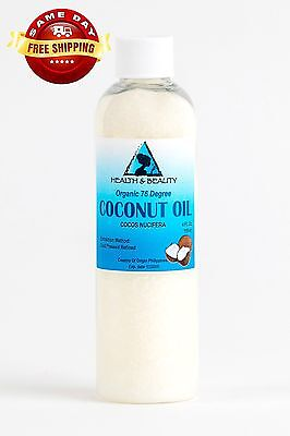 COCONUT OIL 76 To a considerable extent ORGANIC CARRIER REFINED COLD PRESSED 100% PURE 4 OZ
