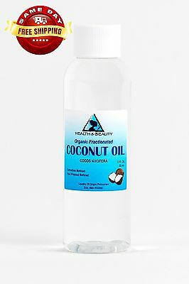 COCONUT OIL FRACTIONATED Inherent CARRIER ULTRA REFINED PREMIUM 100% PURE 2 OZ