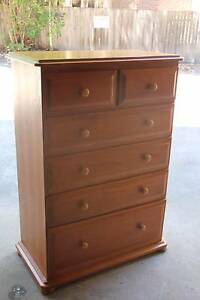 VGC large solid timber 6 drawers tallboy metal runner can deliver Parramatta Parramatta Area Preview