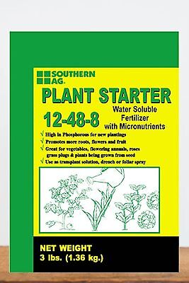 Southern Ag Plant Starter Soluble Fertilizer 12-48-8 , 3 Pound Bags