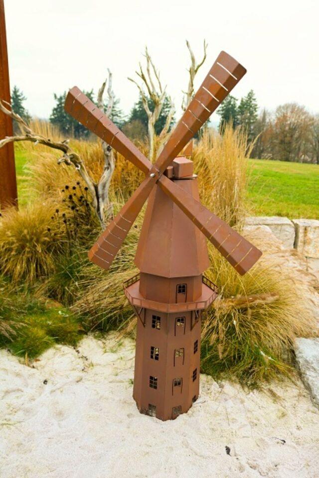 Edelrost Feuerlicht windmühle garten  terrasse..  deko in Saarland - Schiffweiler