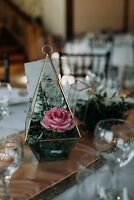 Gold Terrariums (Wedding Rental)