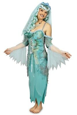 Kostüm Horror Braut Wasserleiche Nixe Meerjungfrau Gr.40-46 Karneval Halloween