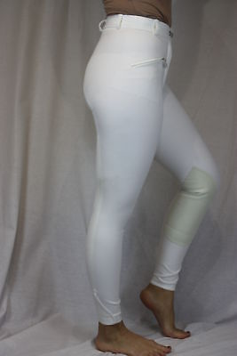 "CAVALLO DERBY BREECHES 24"" WHITE SUEDE KNEE PATCHES"