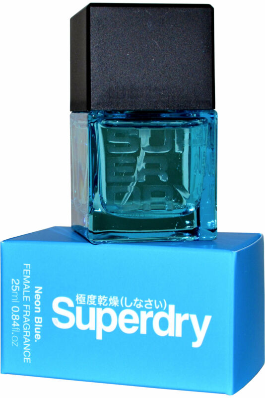 Superdry+Neon+Blue+EDT+Eau+de+Toilette+Spray+25ml+Womens+Fragrance