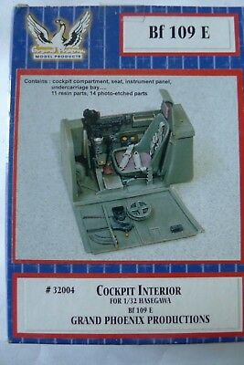 GRAND PHOENIX P^RODUCTIONS KIT REF 32004 COCKPIT FOR HASEGAWA 1/32 BF 109