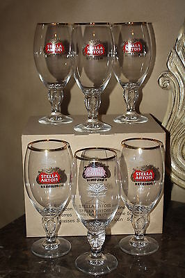 **NEW SET of 6** STELLA ARTOIS 50cl BEER GLASSES** NEW IN BOX**FREE SHIPPING***