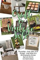 Craft and Vintage Sale