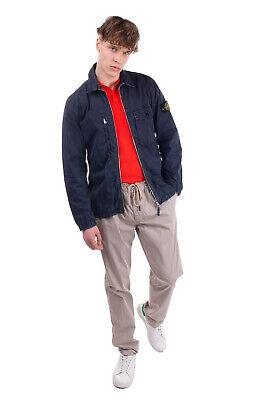 RRP €280 STONE ISLAND Blouson Jacket Size L Dark Blue Unlined Garment Dye Patch