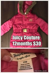 VGUC Juicy/Disney/Carter's Jackets