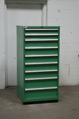 Used Lista 9 Drawer Modular Cabinet Industrial Tool Storage 2112 Vidmar
