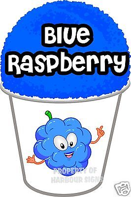 Blue Raspberry Shave Shaved Sno Cone Italian Ice Decal 7 Concession Food Truck