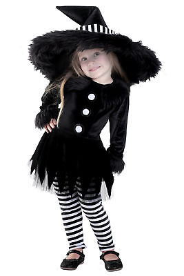 Deluxe Premium Emily the Witch Black White Child Girls Costume Size XS 4 NEW - White Witch Kids Costume