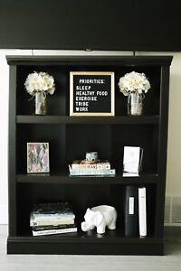 3-Tiered Brown Bookcase