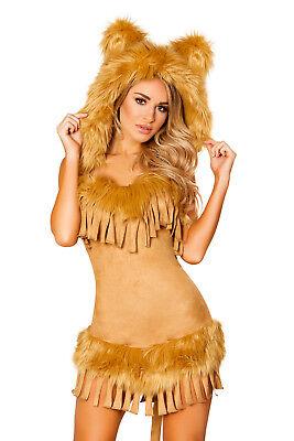Katzenkostüm Löwin Kostüm Lion Löwenkostüm braun kuschlig mit Schwanz Fasching  ()